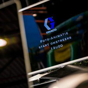Graco logo op scherm