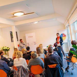 sfeerfoto tijdens het evenement van Qlick