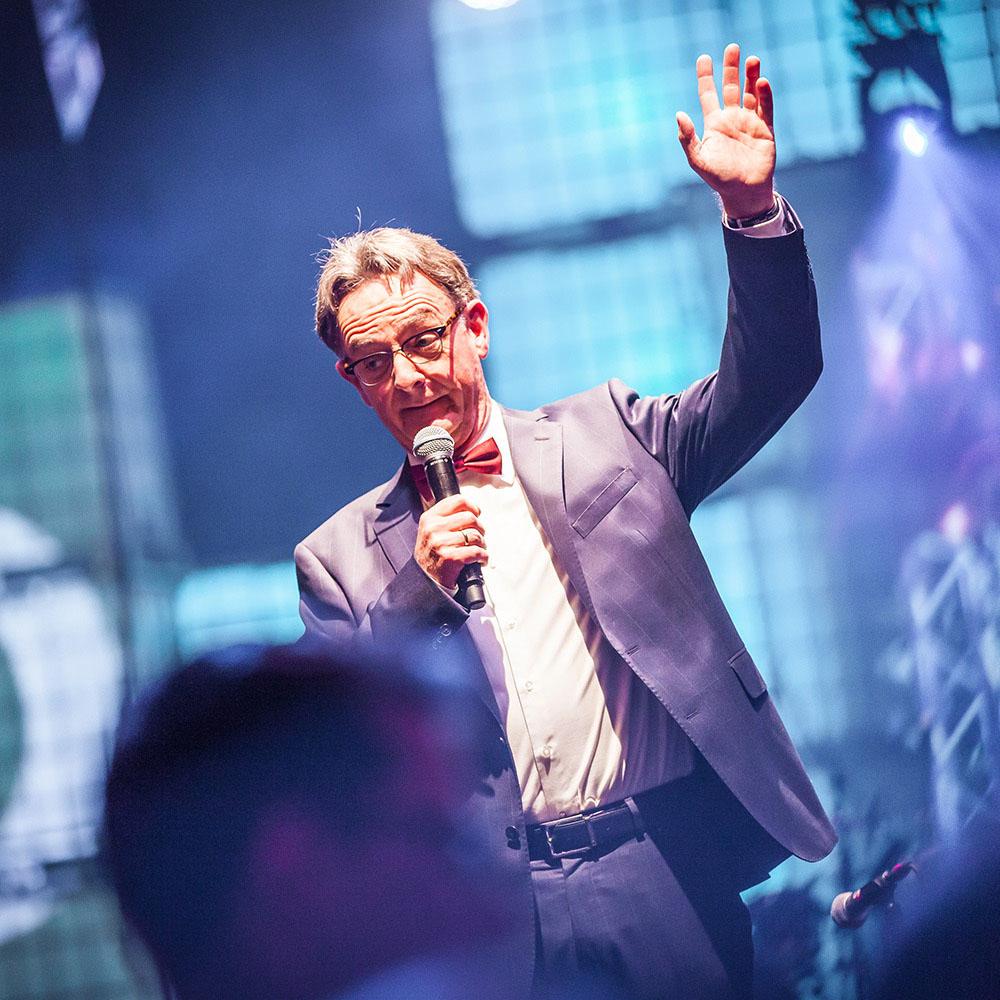 sfeerfoto tijdens het evenement van Siemens