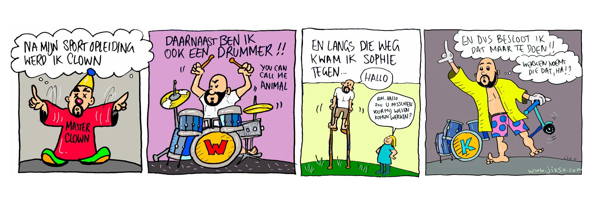Striptekening Willem van KonseptS