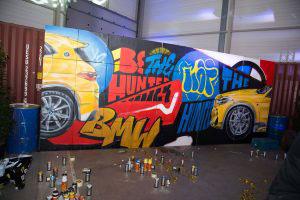 BMW Garage Beliën bedrijfsevenement graffiti
