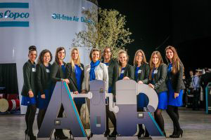 Atlas Copco AIR hostesses bedrijfsevenement