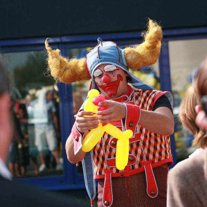 Clown verjaardagsfeest