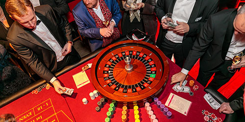 Team-arrangement casino-activiteit
