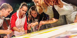 Creatief team-arrangement schilderen_bedrijfsuitje