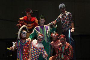 Halloween Freaky Clowns groep klein