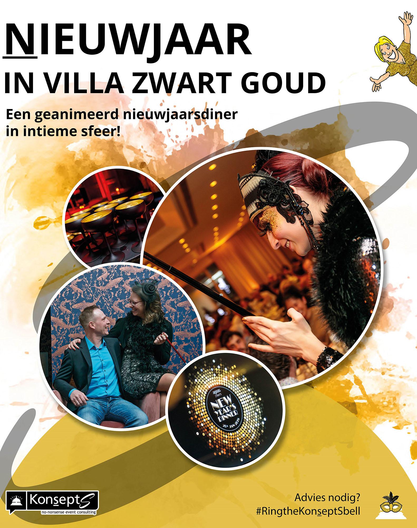 Vier Nieuwjaar in Villa Zwart Goud!