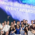 het konseptS team op een podium voor de bea awards