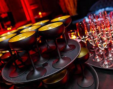 Glamoreus gepresenteerde drankjes op een themafeest van KonseptS